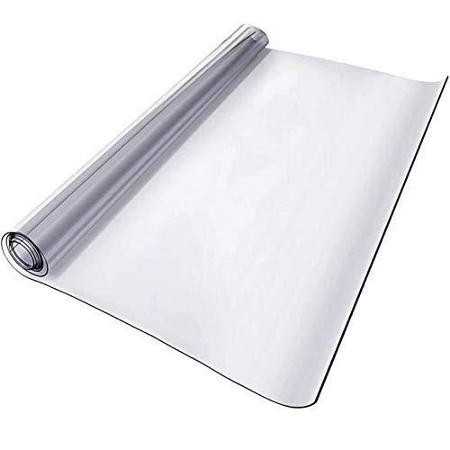 ETZBQ Bodenschutzmatte Schreibtischstuhl Unterlage Glasklar Folie 0.5 Mm, Transparente Tischdecke Tischschutz, Wuschmaß, GrößE WäHlbar Stuhlunterlage BüRostuhlunterlage(80x120cm/31.5x47.24in)