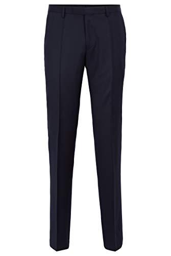 BOSS Herren Lenon1 Regular-Fit Hose aus melierter Schurwolle