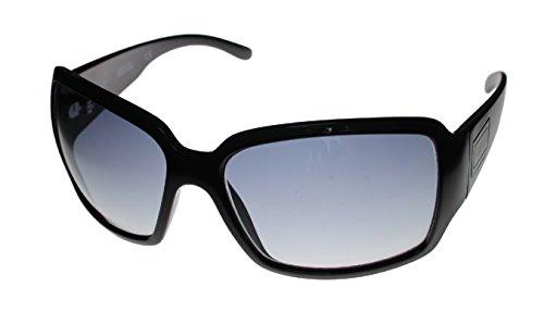 Kenneth Cole Reaction Sunglass Black / Shiny Silver / Smoke Gradient Lenses KC1086 B5