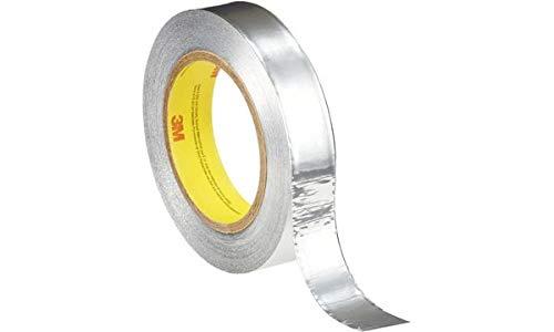 3M Metallklebeband 431, 12 mm x 55 m, Silber Träger aus Weich-Aluminium, zur Abdeckung beim Eolxieren von - 1 Stück