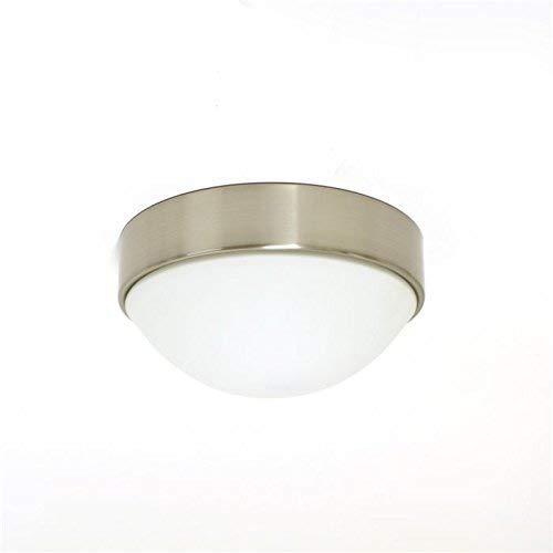 Lampenlux Lámpara de techo Aki con cubierta de cristal (níquel, diámetro de 19 cm)