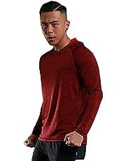 Crazynekos Mannen Fitness Hoodie Lange Mouw Hooded Shirt Ademend Running Sneldrogende Shirts