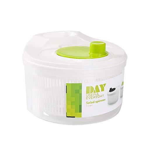 Vegetable Dehydrato Spinner 3L, Household Salad Dehydrator Machine Manual Salad And Vegetable Washer Spinner Dryer