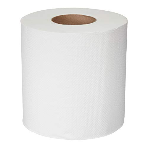 AmazonCommercial Essentials Center Pull Towels, 600 Towels per Roll, 6 Rolls