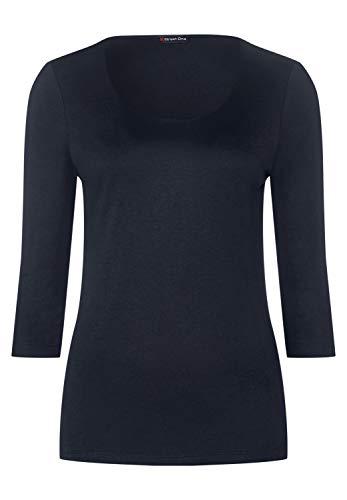 Street One Damen Basic Shirt deep Blue 34