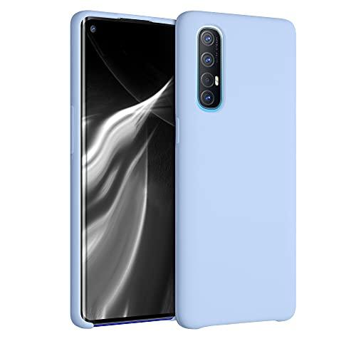 kwmobile Hülle kompatibel mit Oppo Find X2 Neo - Hülle Silikon gummiert - Handyhülle - Handy Hülle in Hellblau matt