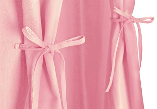 Pampido Betthimmel für Kinder/Babybett aus Baumwolle, Hängende Moskitonetz für Schlafzimmer Kinderzimmer, Baby Insektenschutz, Grau,weiß,hell Rosa,Mädchen Höhe 240 cm (Hell Rosa-light pink)