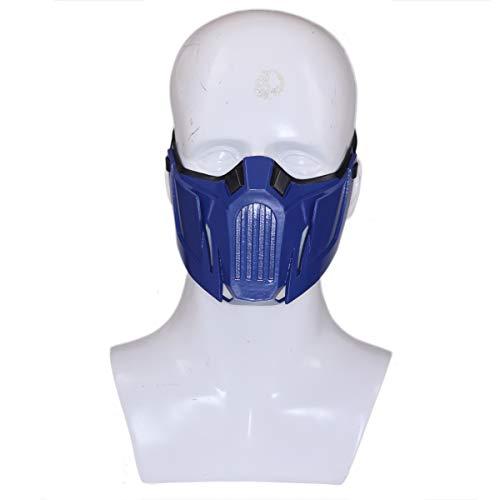 Evere Sub Zero Maske Spiel MK 11 Cosplay Kostüm Harz halbes Gesicht Helm für Erwachsene Herren Kleidung Zubehör