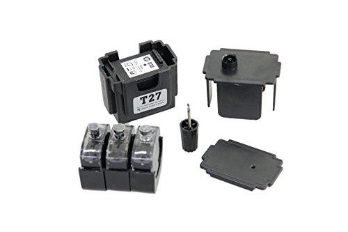 EASY-REFILL Nachfüllset für HP 901 black (XL) Tintenpatronen - Befülladapter + 3 Füllungen schwarz. Druckerpatronen einfach selbst nachfüllen! Mit Video-Befüllanleitung in Youtube
