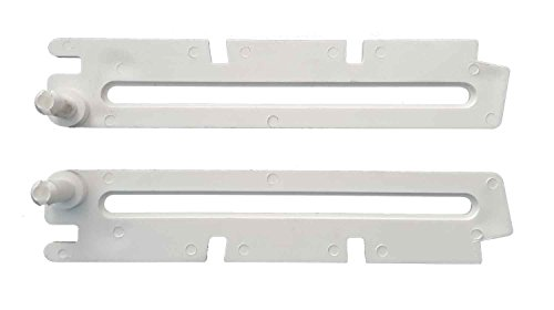 Scheren Paar lang weiß für ACO Kippfenster Kippregler Fenster Feststeller Klemmträger