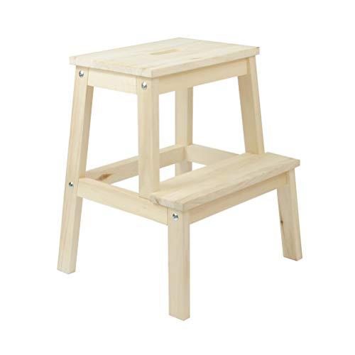 Home ladder houten trapladder multifunctioneel 2 treden ladder stoel voor kinderen volwassenen 4.13
