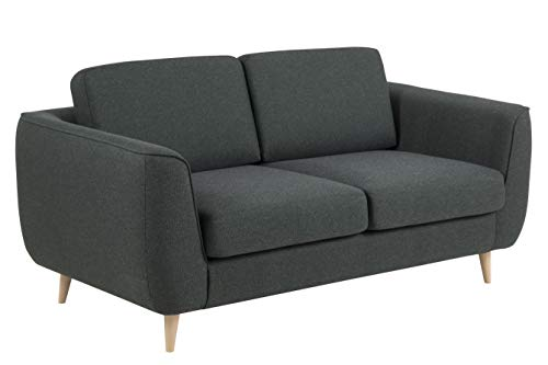 Amazon Brand - Movian Ribe - Divano a 2 posti, 92 x 170 x 85 cm (Lu x La x A), verde scuro