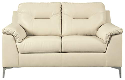 Signature Design by Ashley - Tensas Contemporary Upholstered Loveseat, Off-White