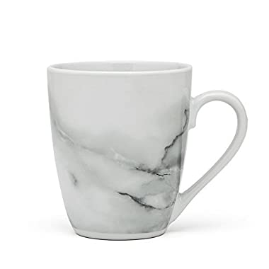 Godinger Silver Art 13 Oz. Set Of 4 Natural Marble Design Porcelain Coffee Tea Mug Cup Dinnerware Drinkware