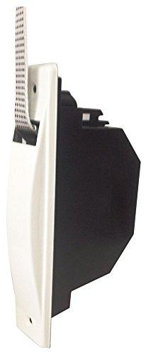 RIBER 040.008 Recogedor de persiana universal C/20, color blanco con placa aluminio atornillada.