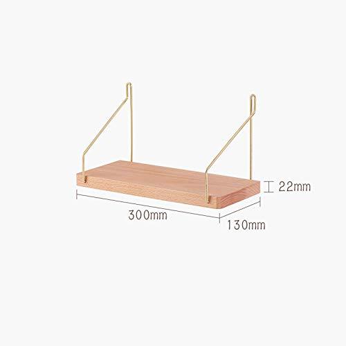 Zwevende Planken, Houten Decoratieve, Zwevende Plank Tv-Componenten, Garage/Schuur/Magazijn/Vrijstaande Opslagplanken,Perzik Houten Plank-Beukenhout_300X130X22Mm