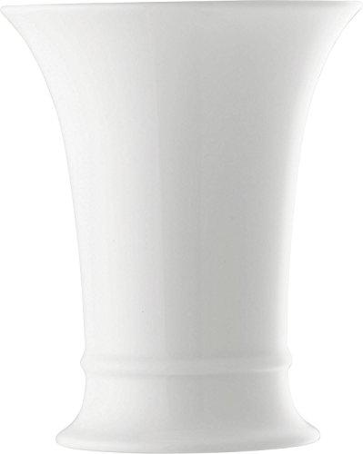 Hutschenreuther Vase, Porzellan, Weiß, Ø 12,6 / Höhe cm 15,4