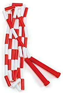 red and white jump rope