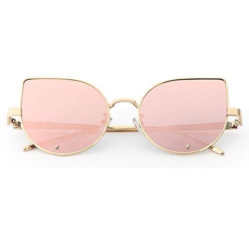 FRAUIT Kleurrijke zonnebrillen mode metaal reflexion bril spiegelframe van objectief kattenoog zonnebril glazen onnebril gespiegelde lens Vrouwen Sunglasses