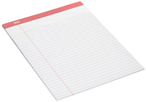 Office Depot Brand Perforated Writing Pads, 8 1/2'''' x 11 3/4'''', Legal Ruled, 50 Sheets,