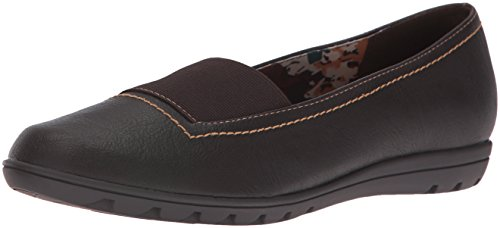 Soft Style by Hush Puppies Women's Varya Slip-On Loafer,Dark Brown Leather,7 N US