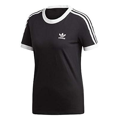 adidas Originals womens 3-Stripes Tee Black Small