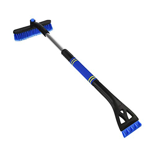 N A Snow Brush Auto Ice Scraper for Car Windshield Extendable Snow Brush with Foam Grip for Car Snow Scraper Made with Material Heavy Duty Durable Snow Mover (Blue)