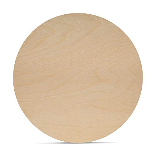 Wood Plywood Circles 14 inch, 1/8 Inch Thick, Round Wood Cutouts, Pack of 5 Baltic Birch Unfinished Wood Plywood Circles for Crafts, by Woodpeckers