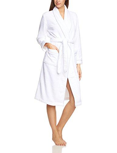 Calida Damen Bademantel After Shower, Einfarbig, Gr. 42 (Herstellergröße: S 40/42), weiß (weiss 001)
