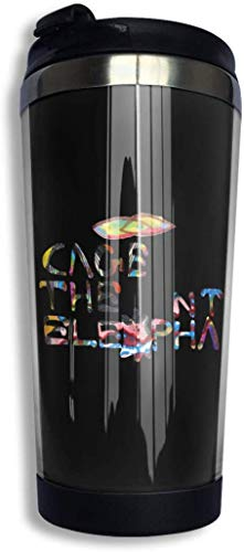 Qurbet Botella de agua, Cage The Elephant Coffee Cup Stainless Steel Water Bottle Cup Travel Mug Coffee Tumbler with Spill Proof Lid