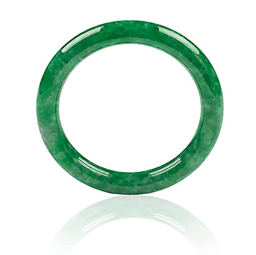 KNWSHT Natural Green Jade Bangle Women's Healing Energy Relax Reiki Jewelry Accessories Real Jade Bangle