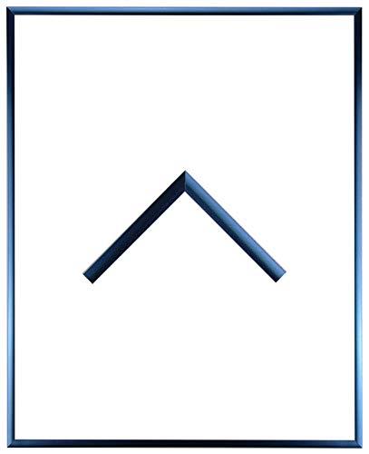 RahmenMax Aluminium Bilderrahmen Alaska 27 x 36 cm aktuelle Farbe: Stahl Blau mit Acrylglas Antireflex 2mm. Posterrahmen aus echtem Metall/Aluminium. Anfertigung nach Maß möglich.