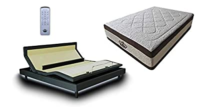 DynastyMattress New! 2018 Adjustable bed Sleep Systems with Cooling Dry Gel and Gel Infused Mattress Bed Set