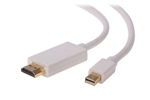ZMA Mini DisplayPort a HDMI | 1.8 m Mini DP a HDMI Thunder Bolt a HDMI Cable adaptador 4K MiniDP a HDMI Cables 1080P Compatible Mac Air/Pro, iMac Surface Pro/Dock, Monitor