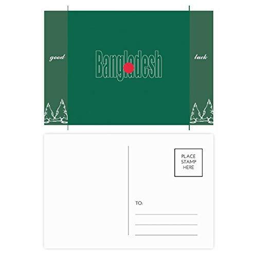 Bangladesh Land Vlag Naam Veel geluk Postkaart Set Kaart Mailing Zijde 20 stks