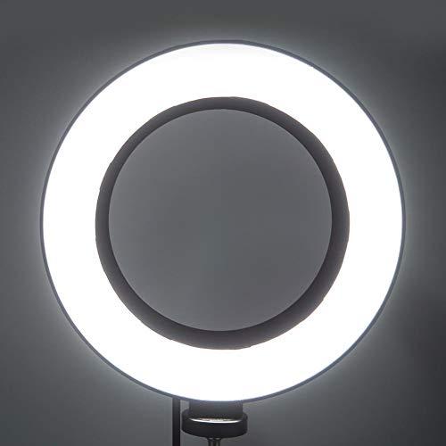 Anillo de luz para selfie de 6 pulgadas con soporte para trípode, luz de anillo de cámara de belleza LED regulable con soportes para teléfono para fotografía, maquillaje, transmisión en vivo, video co