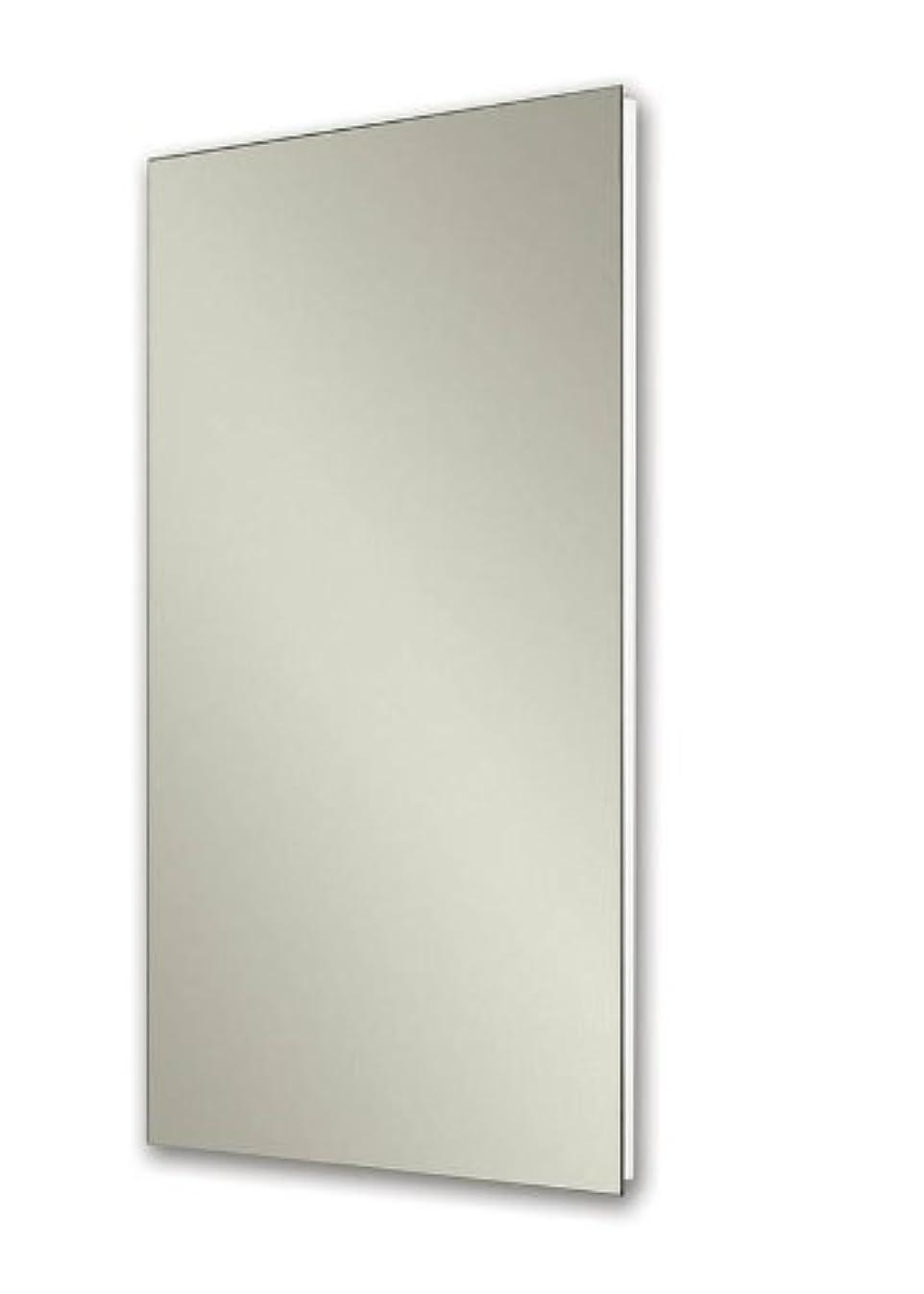 Jensen 1035P24WHG Cove Single-Door Recessed Mount Frameless Medicine Cabinet, 14 by 24-Inch