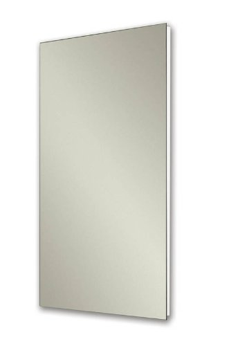 Jensen 1035P24WHG Cove Single-Door Recessed Mount Frameless Medicine Cabinet, 14 by -