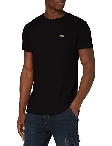 Gianni Kavanagh Herren Black Core Ribbed Tee Unterhemd, Schwarz, M