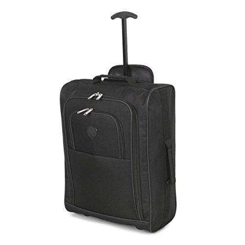Utilizzare approvato bagaglio cabina più su borse volo / bagagli zaini trolley (Nero)