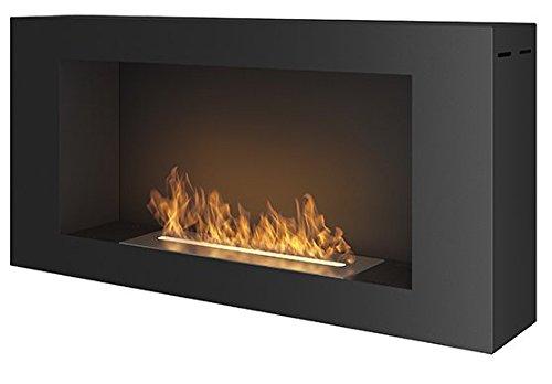 BlackBox Cheminée au bioéthanol - Dimensions : 91 x 44 cm - Noire mate