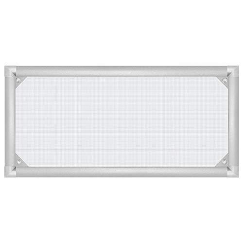 1PLUS hochwertiges Kellerschacht Schutzgitter mit Fiberglas Gewebe grau (50 x 115 cm)