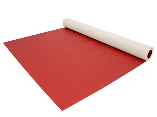 PVC Bodenbelag EXPOTOP Profi Vinylboden - 2,00m x 30,00m, Uni Rot PVC Boden Meterware Vinyl, Reflektiert Nicht, Einfarbig, Schwer Entflammbar