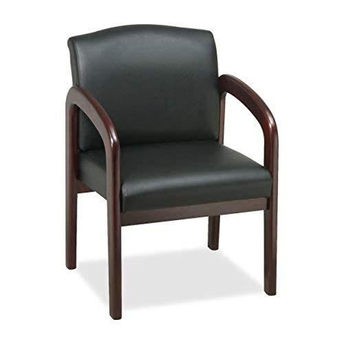 Lorell LLR60471 Deluxe Chair Mahogany, Black