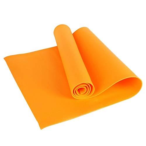 Yoga mat LKU Outdoor 4 MM Opvouwbare Sport Yogamat Antislip Dikke pad Fitness Pilates Mat Fitness 4 Kleur, oranje