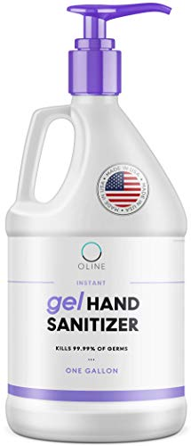Instant Hand Sanitizer Gel, 1 Gallon, 128 Fl Oz, 70+% Alcohol, Large Bulk Antibacterial Hand Sanitizer Gel Refill, Made in USA (1 Pack)