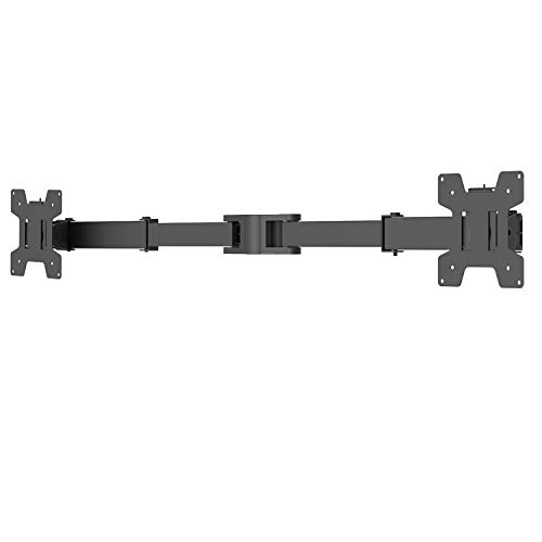 WALI Dual Fully Adjustable Arm for WALI Monitor Mounting System (002ARM), Black