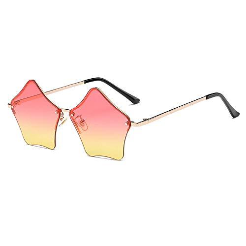 Star Shape Rimless Sunglasses