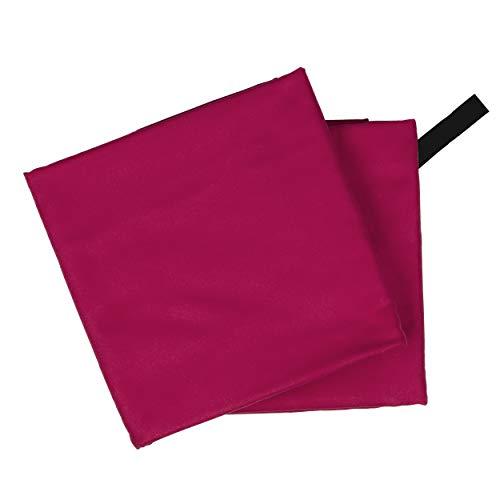 CampAir Toalla de Microfibra con Bolsa de Malla, L 60x 120cm, Rojo