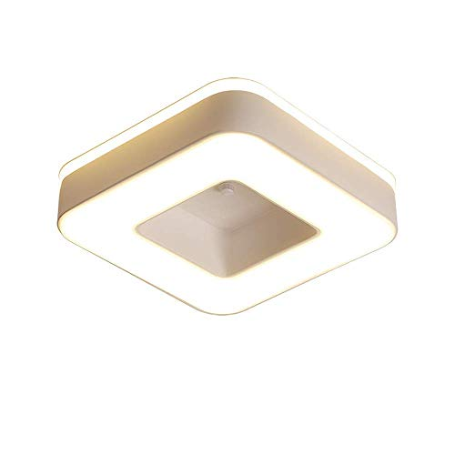 XiYou LED Square Design Plafonnier Nordic Creative Corridor Allée Plafonnier Moderne Acrylique Chambre d'enfants Chambre Plafonnier Luminaire Encastré Éclairage Décoratif À La Maison (Lumière Chaude)